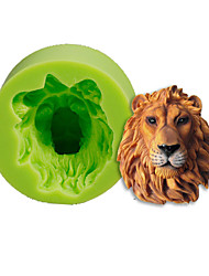 cheap -Lions Head Silicone Mold Cake Decoration Baking Sugarcraft Tools Polymer Clay Fimo Fondant Making Color Random