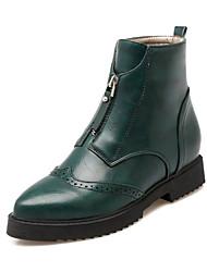 Støvler-PUDame-Sort Brun Oliven-Udendørs Formelt Fritid-Flad hæl