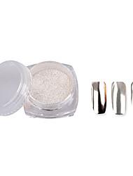 cheap -2g/Box Colorful Nail Glitter Powder Shinning Mirror Eye Shadow Makeup Powder Dust Nail Art DIY Chrome Pigment Glitters