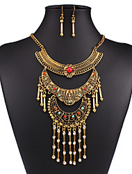 cheap -Women's Jewelry Set - Vintage, European, Fashion Include Necklace / Earrings Gold / Silver For Wedding / Party / Daily