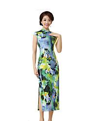 Недорогие -Классика Жен. Юбки Платье A-Line Платье карандашом Косплей С короткими рукавами Длинный