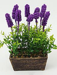 cheap -1PCS Graceful Miniascape Fake Lavender Tree Home Decor Artificial Flower