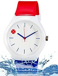 Недорогие -Наручные часы Cool / Цветной силиконовый Группа Листья / Конфеты / На каждый день Синий / Красный