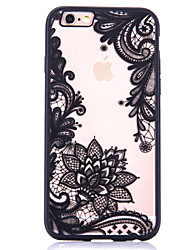 cheap -Lotus Pattern Embossed Printing Transparent Hollow Acrylic Material TPU Phone Case for iPhone  7 7Plus 6S 6plus SE 5S