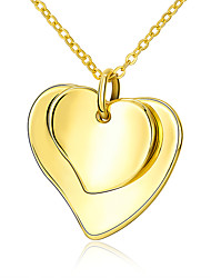 cheap -Women's Pendant Necklace - Gold Plated Heart, Love Fashion Yellow Necklace For Wedding, Party, Daily