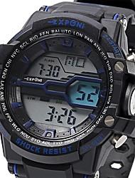Hommes Montre de Sport Montre Militaire Montre Tendance Montre Bracelet NumériqueLED LCD Calendrier Chronographe Etanche Lumineux