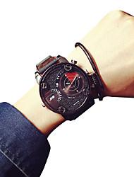 cheap -Men's Quartz Casual Fashion New Watch Leather Belt Big Round Alloy Dial Watch Cool Watch Unique Watch