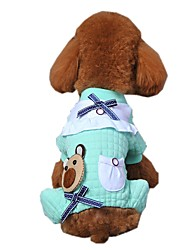 Lovely Gird Bear Pattern  Cotton Pajamas for Pets Dogs (Assorted Sizes and Colours)
