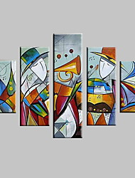 cheap -Hand-Painted Abstract Landscape Abstract Landscape Fantasy Any Shape, Modern Canvas Oil Painting Home Decoration Five Panels