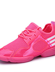 Women's Sneakers Spring / Fall Comfort Fabric Casual Flat Heel  Black / Pink Sneaker