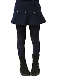 cheap -Girls' Daily Solid Leggings, Others Winter Ruffle Gray Navy Blue