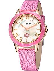 abordables -KEZZI Mujer Reloj de Pulsera Gran venta / Cool / / Piel Banda Casual / Moda Negro / Blanco / Rosa