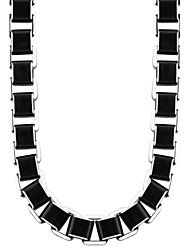cheap -Trendy Box Link Chain Men High Quality Never Fade Black 316L Stainless Steel Necklace Men Gift Party Jewelry N50003