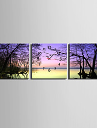 E-HOME® Dead Lake Clock in Canvas 3pcs