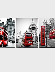 3 Panels Print London Street Painting for Living Room Wall Art Picture Home Decoration Stretched Frame Ready to Hang