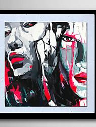 baratos -Pintura a Óleo Pintados à mão - Abstrato Pessoas Retratos Abstratos Modern Tela de pintura
