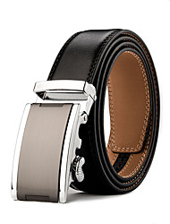 Mens Business Ratchet Belt Luxurious  Genuine Leather