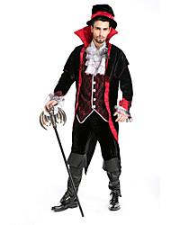 economico -Costumi da vampiro Costumi Cosplay / Vestito da Serata Elegante Per uomo Halloween Feste / vacanze Costumi Halloween Tinta unita