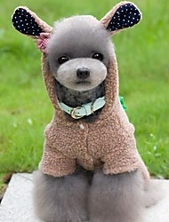 cheap -Dog Costume Jumpsuit Dog Clothes Cute Cosplay Animal Gray Brown Pink Costume For Pets