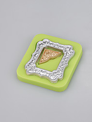 cheap -Mirror frames shaped fondant silicone mold soap candle moulds sugar craft cake decorating Color Random