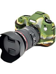 5DIII Korea Style Silicone Camera Case for Canon 5DIII 5D3 5DS 5DR DSLR Camera(Black/Green)