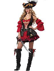 Costumi a tema di film e TV Costumi Cosplay Vestito da Serata Elegante Donna Halloween Feste/vacanze Costumi Halloween Nero/Rosso Collage