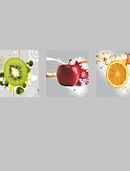 abordables -cartel impresiones de la pintura de la pared de la cocina frutas modernos imprimen en lona 3pcs / set (sin marco)