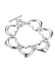Bracelet Chaînes & Bracelets Alliage / Plaqué argent Forme de Cercle Adorable Quotidien / Décontracté Bijoux Cadeau Blanc,1pc