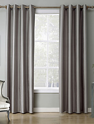 Grommet Top Two Panels Curtain Modern , Print Solid Bedroom Polyester Material Blackout Curtains Drapes Home Decoration