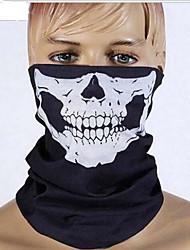 Halloween plein visage horreur grimace voile mascarade fête costumée mouvement robe de thème a vu le visage de voile capot