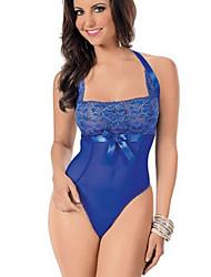 economico -indumenti da notte fantasia delle donne& pigiama da notte da passeggio, pizzo sexy in pizzo sottile blu