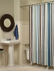 cheap -Shower Curtains Modern Polyester Stripe Machine Made