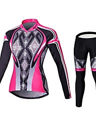cheap -Malciklo Cycling Jersey with Tights Women's Long Sleeves Bike Compression Clothing Tights Clothing Suits Quick Dry Front Zipper Wearable
