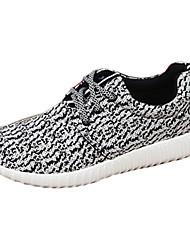 abordables -Homme Chaussures Tissu Printemps Automne Confort Basket Course à Pied Lacet pour Athlétique Décontracté De plein air Noir Gris Noir/blanc
