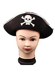 Pirat Hatte Unisex Halloween Festival/Højtider Halloween Kostumer Trykt mønster Patchwork