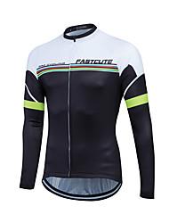 Fastcute Maglia da ciclismo Per uomo Per donna Unisex Manica lunga Bicicletta Felpa Maglietta/Maglia Asciugatura rapida Zip anteriore