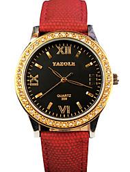 abordables -YAZOLE Mujer Reloj de Pulsera Gran venta / Cool / / PU Banda Casual / Moda Negro / Azul / Plata