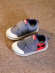 Unisex Baby Schuhe Leinwand Frühling Herbst Flache Schuhe Für Normal Grau Rot