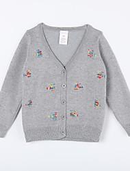 preiswerte -Pullover & Cardigan Alltag Baumwolle Herbst Grau Marinenblau