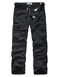 ieftine Pantaloni Cargo-A bărbaților Pantaloni Drăguți Bumbac camuflaj Casual / Sport Negru / Verde / GAlben / Gri