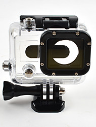 cheap -Smooth Frame Protective Case Waterproof Housing Case Anti-Shock Waterproof Dust Proof Convenient For Action Camera Gopro 3 Ski /