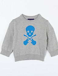 povoljno -Pamuk Jednobojni Dnevno Jesen Džemper i kardigan Sive boje