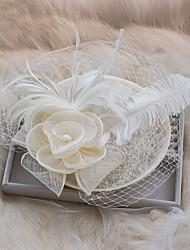 economico -copricapo di fascinator di rete di seta piuma di tulle stile femminile classico