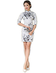 Jednodílné/Šaty Cosplay Lolita šaty Květinový Medium Length Pro Polyester