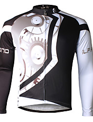 ILPALADINO Cycling Jersey Men's Long Sleeves Bike Jersey Quick Dry Ultraviolet Resistant Breathable Compression Lightweight Materials