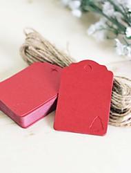 Labels / Etiquettes(Brun / Vert / Rouge)Thème classique-Papier cartonné