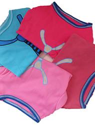 Holdhoney Pet Cotton Tie T-Shirt Blue / Light Pink / Rose / Dark Red  Dog Clothes (#LT15050276)