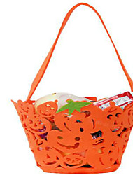 abóbora portátil saco de abóboras de Halloween não-tecidos barris crianças vestir-se atividade adereços a cor bolsas dos doces aleatório