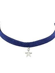 Dame Kort halskæde Stof Legering Mode Boheme Stil Personaliseret Blå Smykker For Fest Daglig Afslappet 1 Stk.