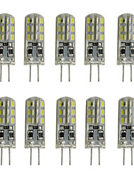 cheap -1W G4 LED Bi-pin Lights Tube 24 SMD 3014 80-120 lm Warm White Cold White K Decorative DC 12 V 10pcs
